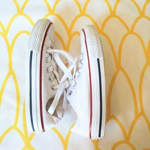 Converse White Low Top Sneakers